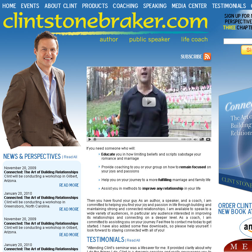 Clint Stonebraker Site Launched