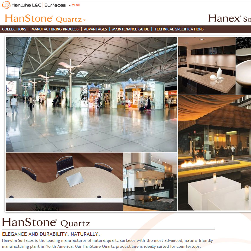 Hanwha Surfaces contracts to launch new website