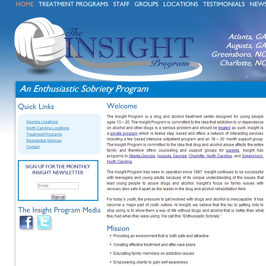 The Insight Program Website Launch