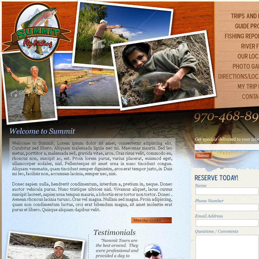 Summit Fly Fishing Website Launch