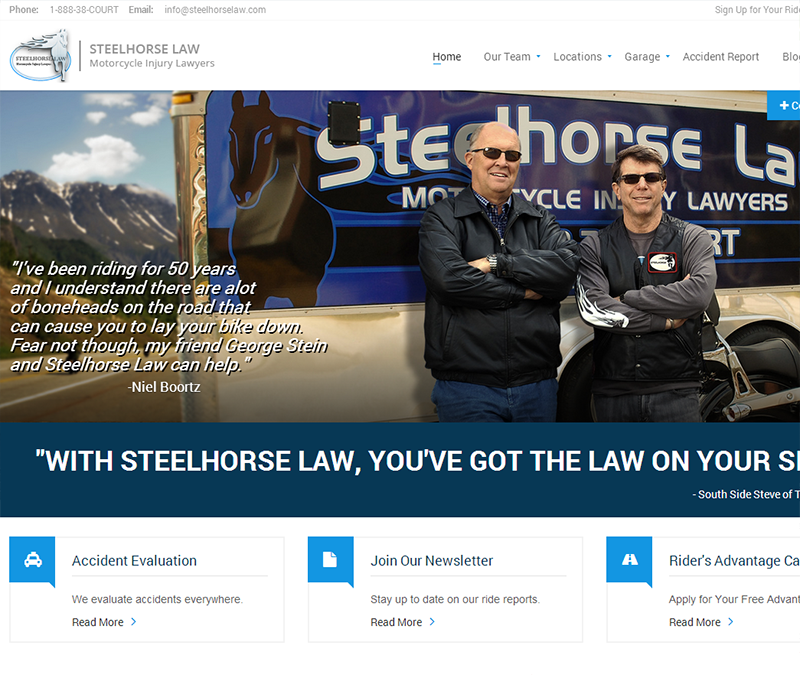 Steel Horse Law Site Redesign